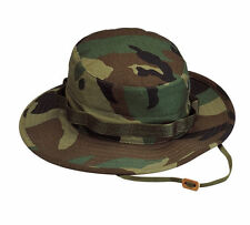 BOONIE Woodland Camo Military Style Boonie Hat Poly/Cotton New Rothco 5800