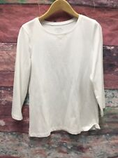 CHICOS Womens Size 0 White Long Sleeve Shirt Blouse