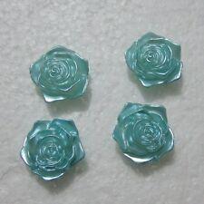 DIY 10PCS Resin Pearl flower rose Scrapbook Craft Flatback Beads DIY Wedding