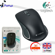 New Logitech Wireless Laser USB Mouse Nano M560 Nero (In Scatola)
