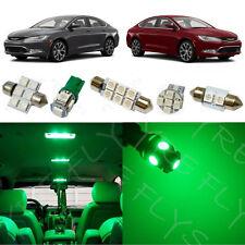 7x Green LED lights interior package kit for 2015 - 2017 Chrysler 200 RT2G
