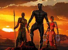 "THE BLACK PANTHER MARVEL COMICS SUPERHERO WALL ART CANVAS PICTURE PRINT 20X30"""
