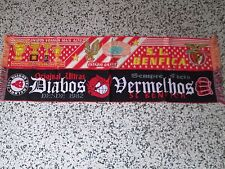lotto 2 sciarpe BENFICA FC club football calcio scarf bufanda lot c