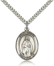 "Saint Odilia Medal For Men - .925 Sterling Silver Necklace On 24"" Chain - 30 ..."