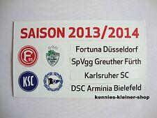 Update-Set 2.Bundesliga Magnettabelle 13/14 Tabelle DFL 2013/2014 2.Liga