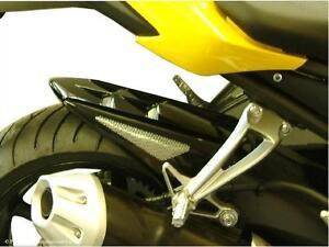Yamaha FZ-8N 10-15 Rear Hugger Gloss Black Silver Mesh - Powerbronze