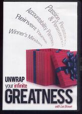 UNWRAP YOUR INFINITE GREATNESS with les brown  CD 4 disc set plus bonus CD