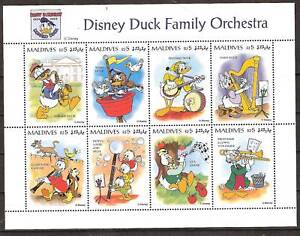 MALDIVES # 2059a-h MNH DISNEY'S DUCK FAMILY ORCHESTRA