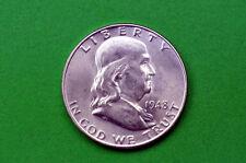 1948-D BU Mint State Franklin SILVER Half Dollar (90% SILVER)