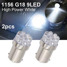 R5W G18 382 207 BA15s 1156 WHITE 9 LED STOP / TAIL BRAKE CAR BULBS FORD P21W 12V