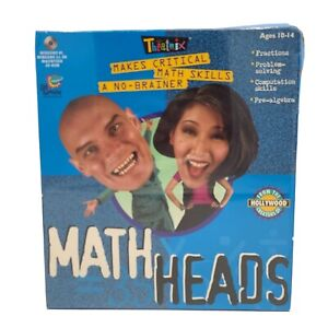 Math Heads By Theatrix PC MAC CD-ROM Ages 10-14 New Free Shipping Vintage