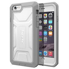 iPhone 6 Plus Poetic Heavy Duty Dual Layer Complete Protection Hybrid Case White/gray