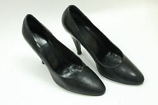 ESCADA  women shoes sz 7.5 Europe 38 black leather Made in Italy S6242