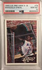 New listing 1993 Upper Deck Pro View 3-D Shaquille O'Neal PSA 10 (Pop 8)