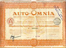 Paris 1928. Auto-Omnia. Rare+++.