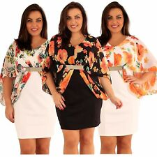Plus Size Scoop Neck Stretch, Bodycon Dresses for Women