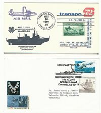 Usa: 1972; &2004, 2 covers thematic ships, navy cancelations, 1 air mail US117
