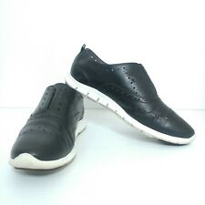 Mens Cole Haan Grand OS Black Leather Sneakers Shoes Mens 9B