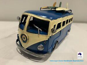 1962 VW Kombi Van Campervan Hippy 1:32 Surfboard Metal Handmade Reproduction