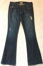 WILLIAM RAST Jeans BELLE Flare Sz 26 LOWRISE FLAP Pkt Distressed Stretch