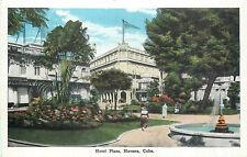 HAVANA, CUBA - HOTEL PLAZA - BUSY OLD POSTCARD VIEW