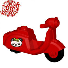 Brickforge Red Scooter (Pouty Panda) Accessory for Lego Minifigures Vespa