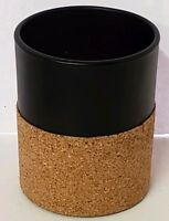 Yankee Candle Black Cork Glass Votive Tealight Holder New