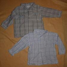 Lot 2 chemises à carreaux Kimbaloo bébé garçon 18 mois - TBE