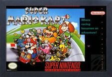 SUPER MARIO KART VIDEO GAME 13x19 FRAMED GELCOAT POSTER SUPER NINTENDO SNES GIFT