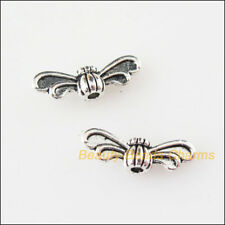50Pcs Tibetan Silver Animal Butterfly Wings Spacer Beads Charms 4.5x13.5mm