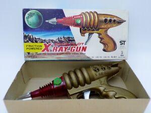 Vintage 60's Taiyo Japan Friction Space Pilot X Ray Gun NOS Modern Toys Yonezawa