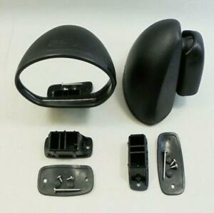 For Datsun Nissan 120 Y KB210 Coupe  Bullet Black Door Mirrors Pair 1962-1980