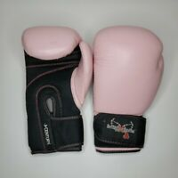 "Century ""I Love Kickboxing"" Pink Women's Adjustable Sparring Training Gloves"