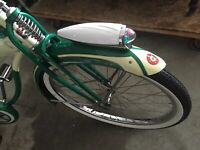 "DELTA type Bike Headlight Cream and Chrome Streamline 9.5"" Long"