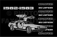 1982-1983 DeLorean Owners Manual De Lorean Owner Guide Book