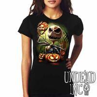 Nightmare Before Christmas Pumpkin Kink Jack Skellington - Ladies T Shirt Tshirt