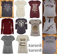 HARRY POTTER Ladies T Shirt Primark Hogwarts Tee Top