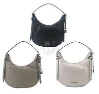 Michael Kors  Cassie Half Crescent Leather Shoulder Bag Handbag