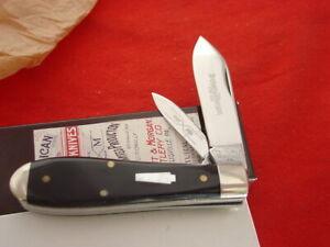 Schatt & Morgan USA mint/box 142206 buffalo horn pearl shield jack knife ld