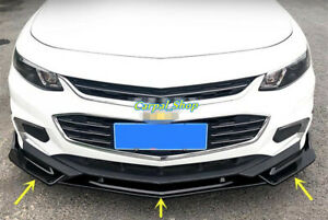 2016-2018 For Chevrolet Malibu Front Bumper Lip Body Kit Spoiler Splitter 3PCS