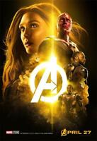 Avengers Infinity War The Avengers 3 Movie Poster A ROLE CAST 18x12 36x24 40x27""