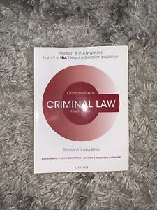 Criminal Law Concentrate: Law Revision and Study Guide by Rebecca Huxley-Binns