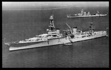 USS Houston CA-30 postcard US Navy Heavy Cruiser