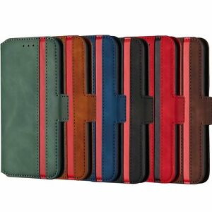 For Samsung Retro Matte Leather Card Classic Business Wallet Phone Case Cover