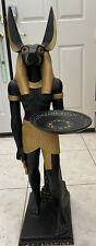 """New listing Egyptian Anubis 35"""" tall Statue with decorative plate held up by arm"""