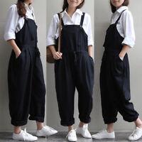Women Jumpsuit Playsuit Jeans Denim Blue Dungaree Overalls Trousers Pants Romper