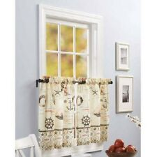 "Nautical Printed Decorative Window Tiers , Dimensions: 60"" x 15"" - NEW"