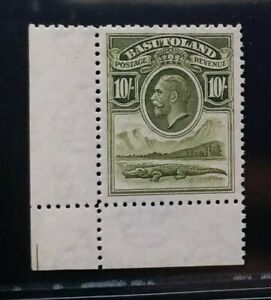 BASUTOLAND 1933 KG V 10s SG 10 Sc 10 Crocodile MNH with corner margin