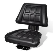 Sedile per Trattore con Schienale Nero in Acciaio Regolabile Sedia K0L2