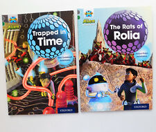 2 childrens books Rats of Rolia Trapped in Time Alien Adventure reading scheme
